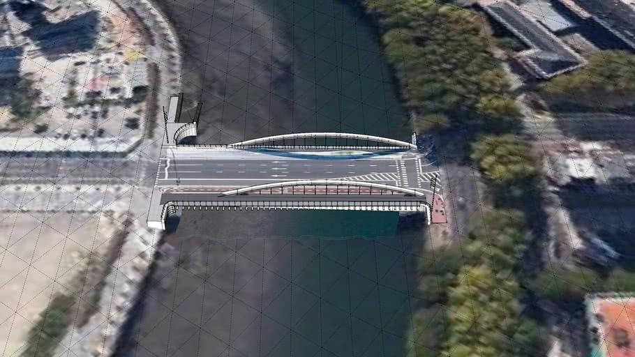 Puente nuevo sobre el Urumea en Donostia-San Sebastian