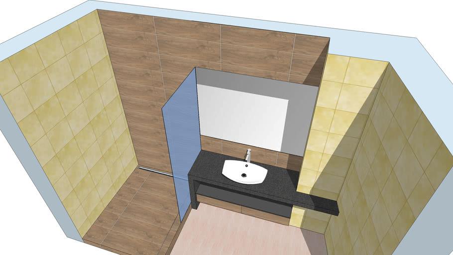 Столешница в ванной комнате (1450х550х710мм) из панелей wedi