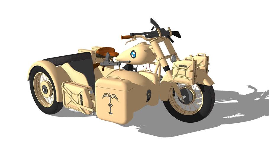 1942 WWll BMW R75 and sidecar