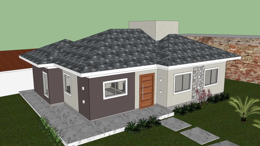 Casa Boa Vista Telhado 4 Aguas Telhado Bangalo 3d Warehouse