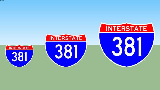 Interstate 381 Sign