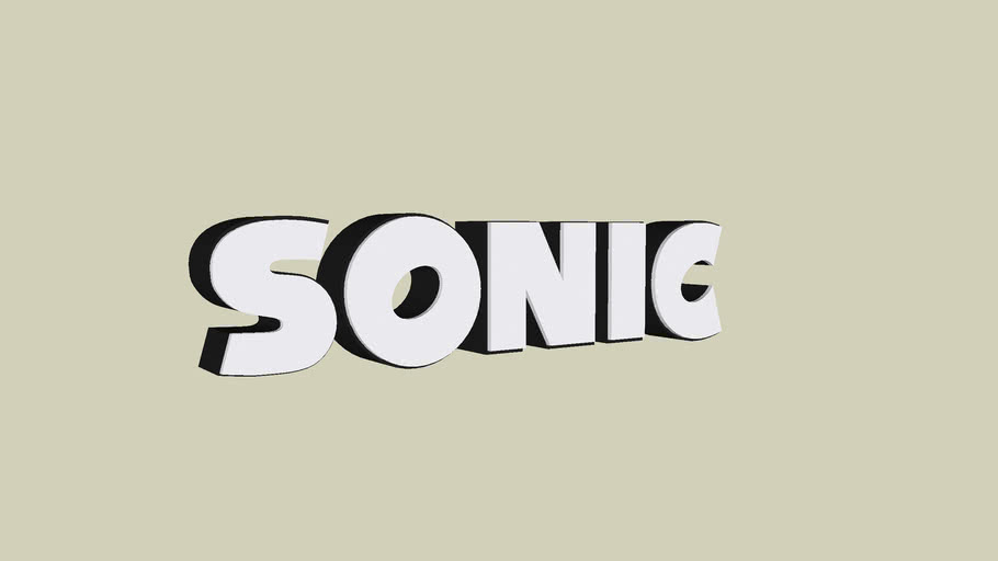 Sonic The Hedgehog Logo Black And White 3d Warehouse