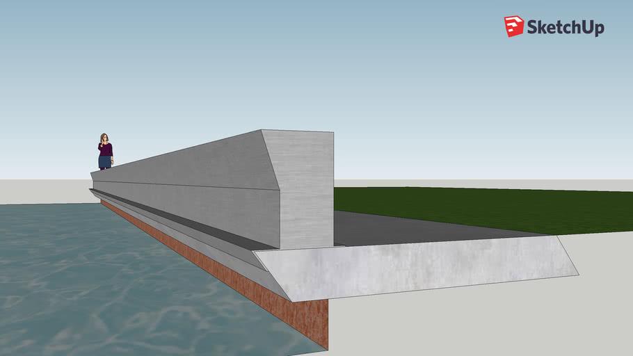 Seawall Wave Barrier