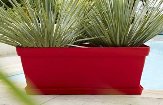 Bacs rectangulaires pour plante Roméo 80 et 100 _Poétic