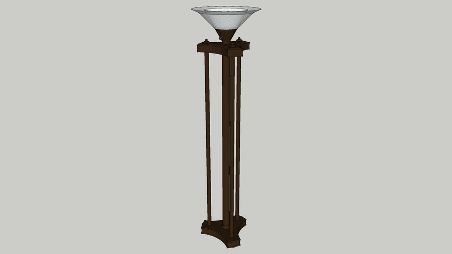 Torchiere traditional - bronze finish