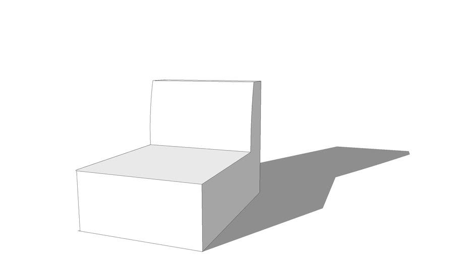 Chauffeuse blanche MODULO, Maisons du monde, réf 117714, prix 200.00€