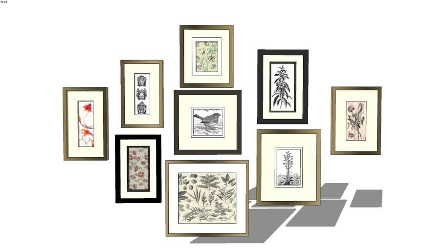 Wall frame display (engravings)