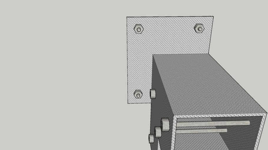 """2 way 11' 3/4"""" beam connector/supporter with connection to stairs beam"""