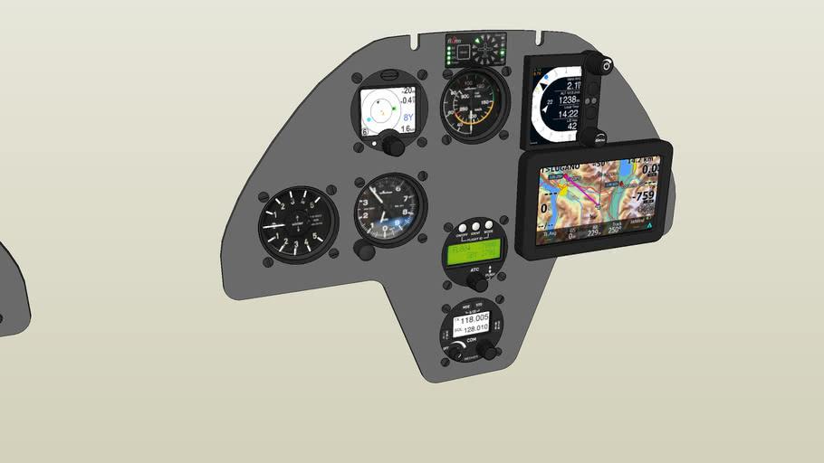 Libelle H201B Cockpit-Layout mit modernen Instrumenten