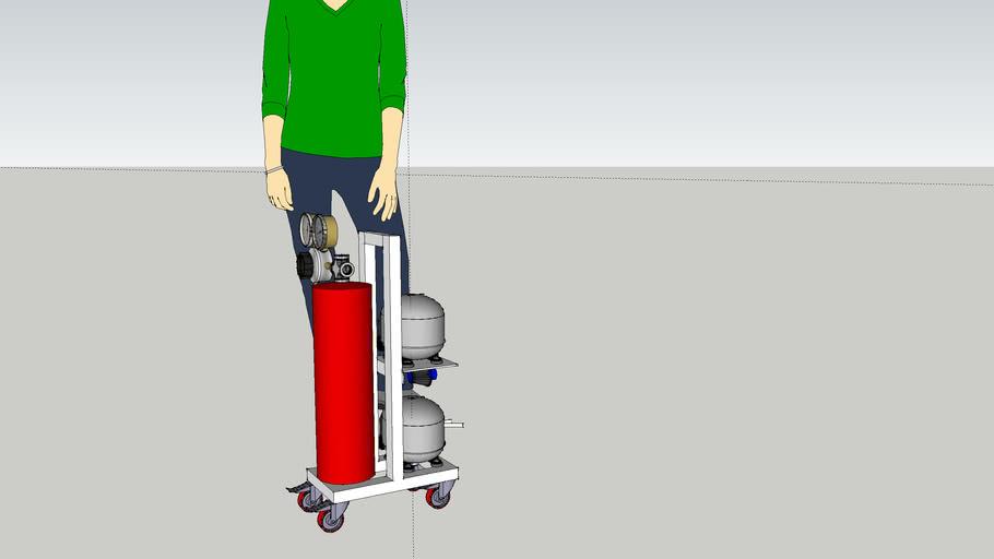 Compresor casero con motor frigorifico