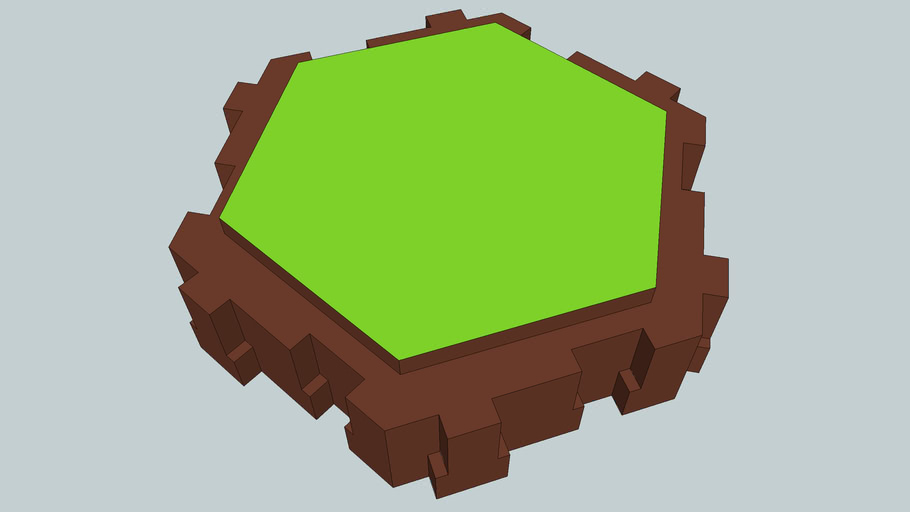 heroscape green single land piece