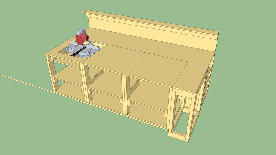 Modular Shop Table and Scrap Storage