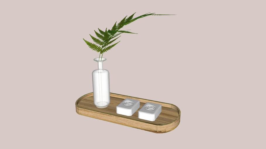Bandeja 03 - sabonetes + vaso