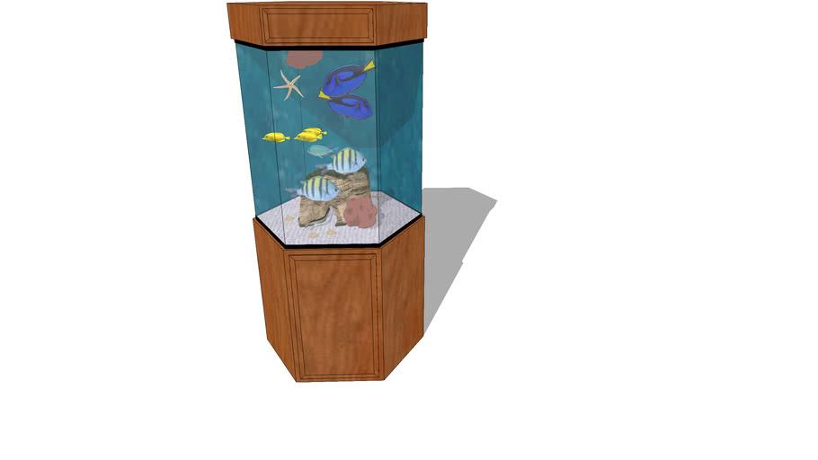 Saltwater Aquarium with wood stand