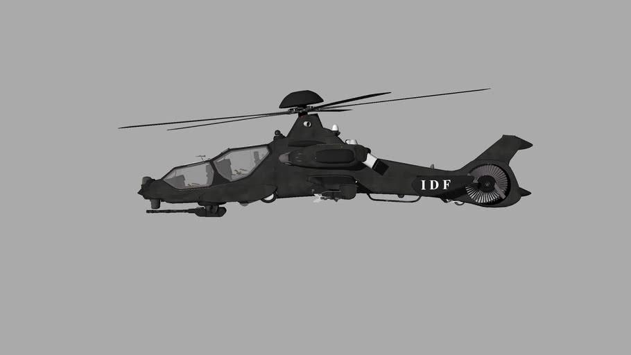 IDF+israeli+defense+forces+gumship+helicopter
