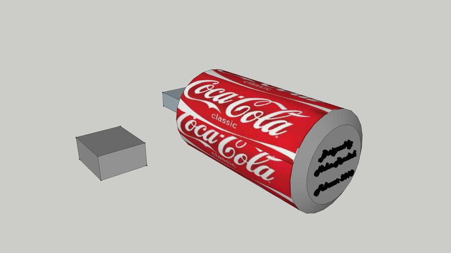 usb-stick cola dose mit deckel !!!!DRUCKBEREIT!!!!