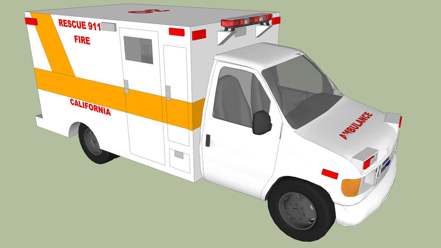 ambulance  fire chicago USA