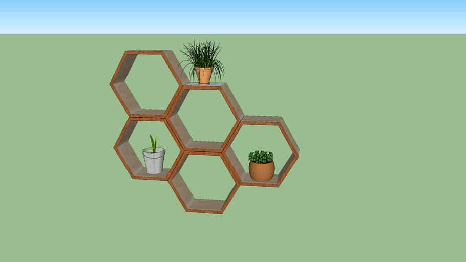 etagère hexagonale
