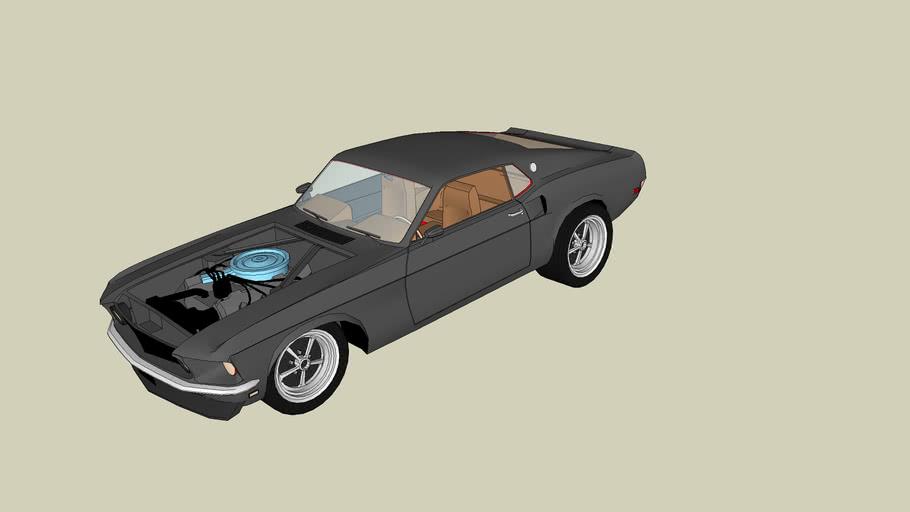 Drag Racer Boss Mustang