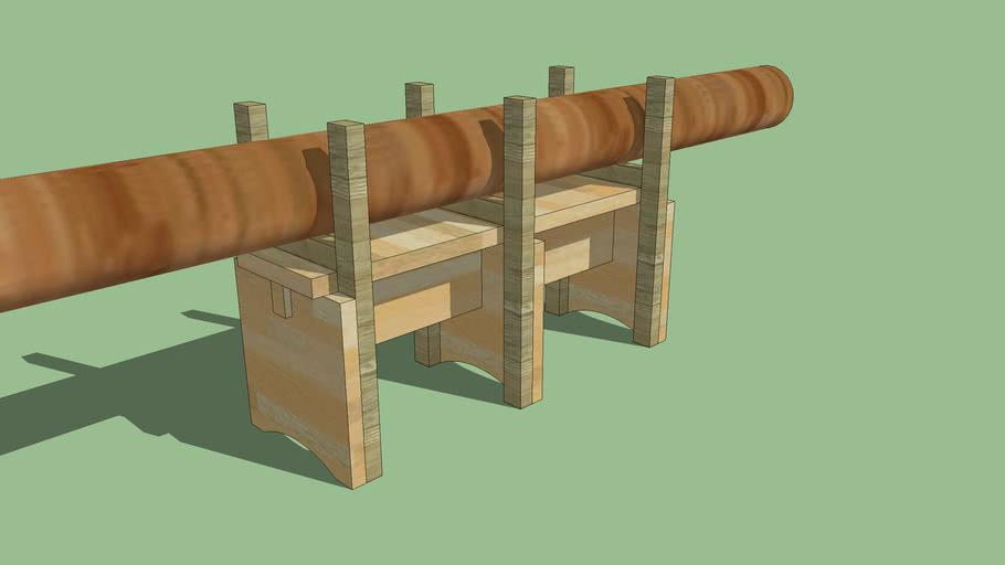 banco per tagliare legna con motosega