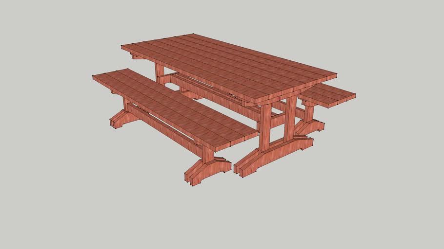 Trestle Picnic Table