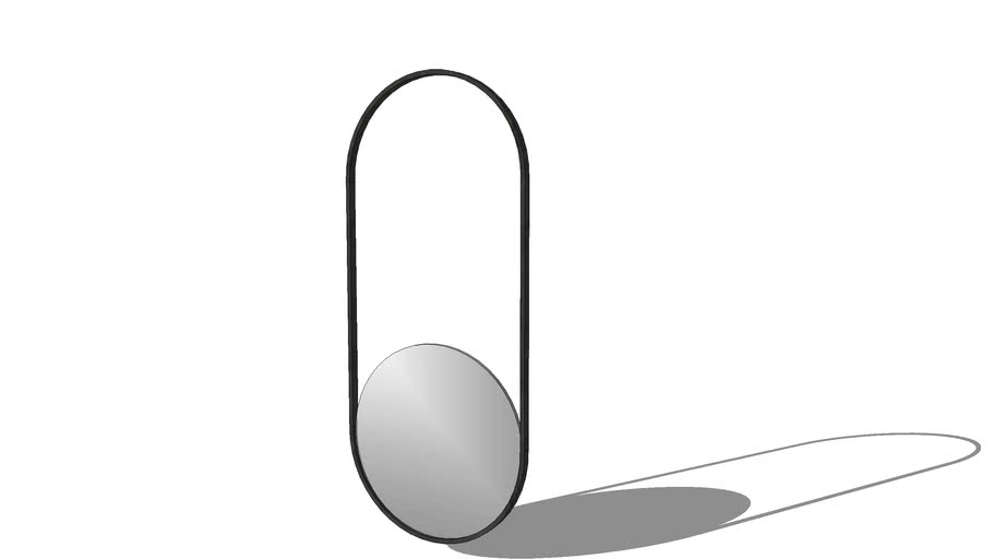 MIRROR WITH CURVED FRAME