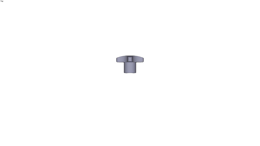 Tapped hand knob M10