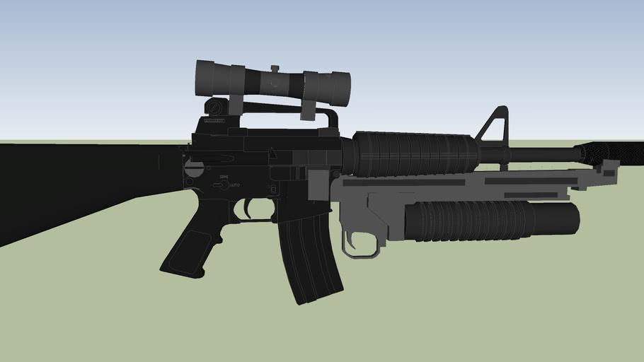 arma larga R15 uso exclusivo del ejercito