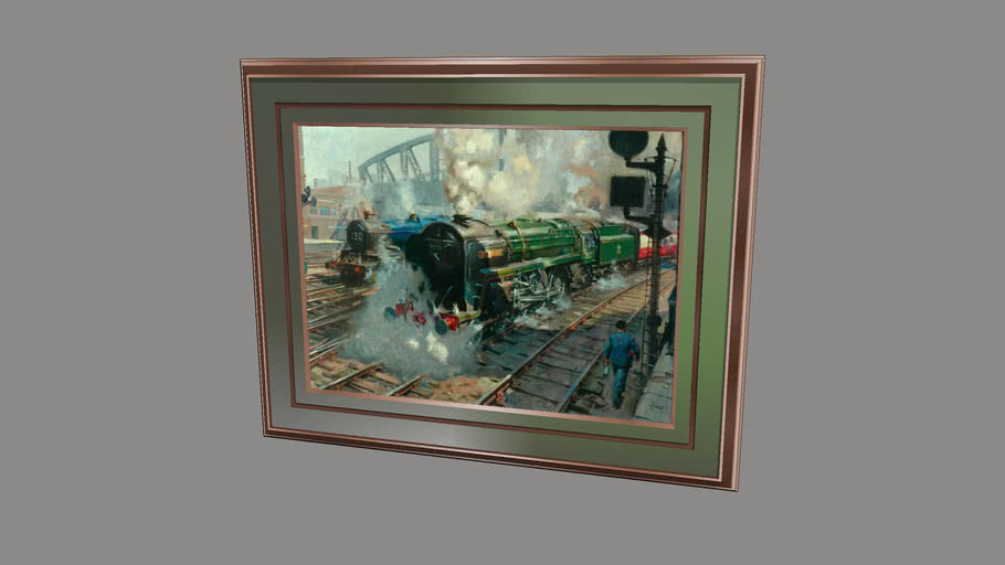 """""""FULL STEAM""""... Famouse Paintings of Loco's 4.. of.. 12.."""