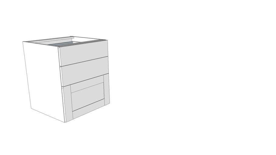 base 2 cassetti 1 cesto dinamica classica