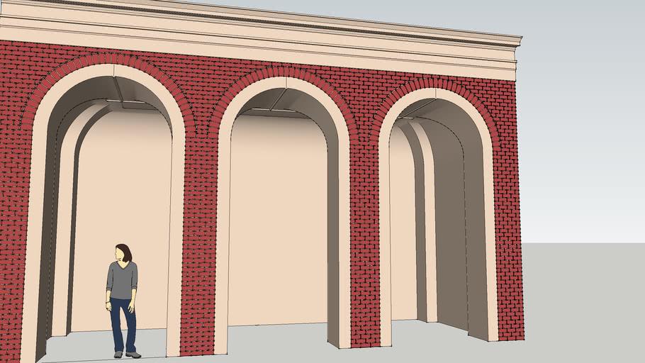 complex brick arch