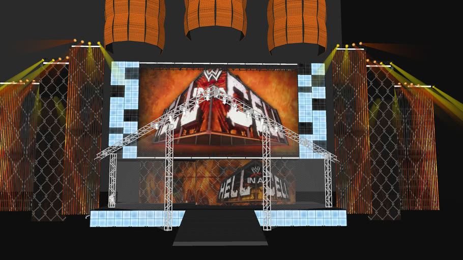 WWE Hell In A Cell Offical Stage - Work In Progress