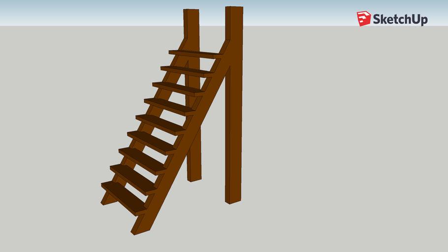 Wooden Stair Ladder