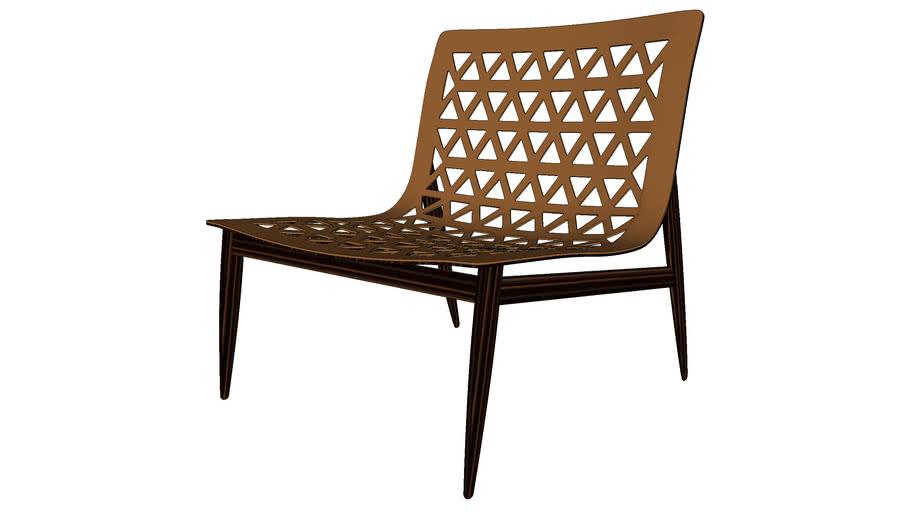 Elmstead Lounge Chair Caramel Leather by Modloft