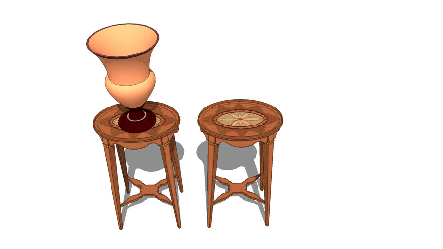 Sheraton Revival Urn Stands