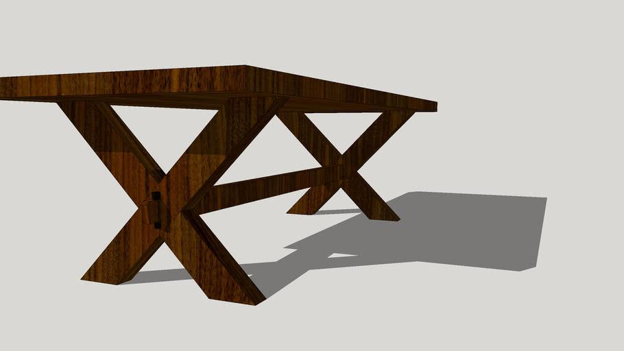 Dark Walnut Trestle Table