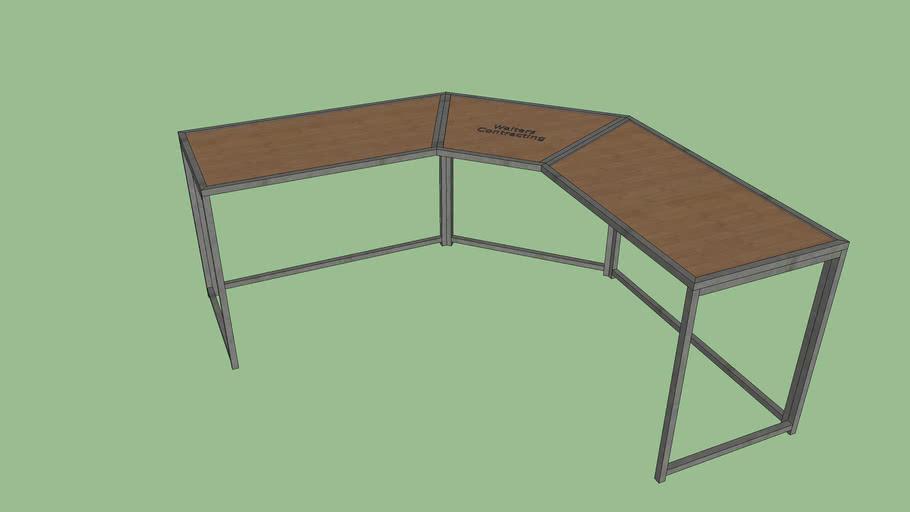 finished designed table