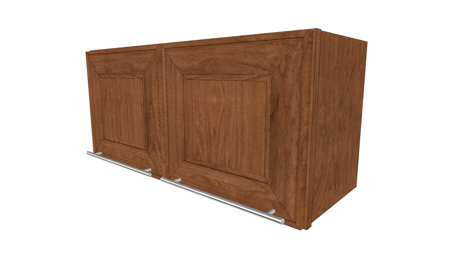 Wall Cabinets - Garrison Square Full Cherry Rye by KraftMaid® Cabinetry