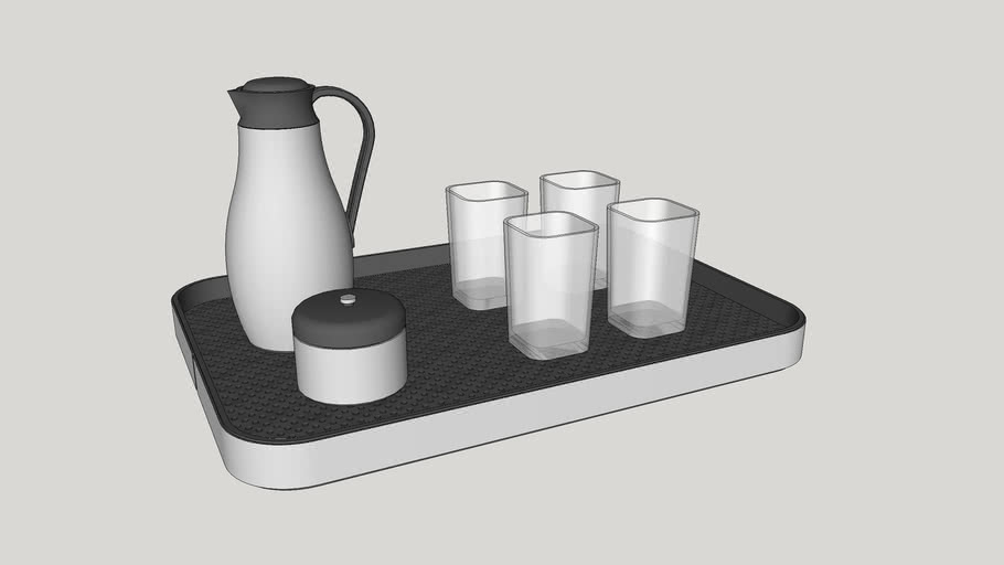 Cup and thermal tray