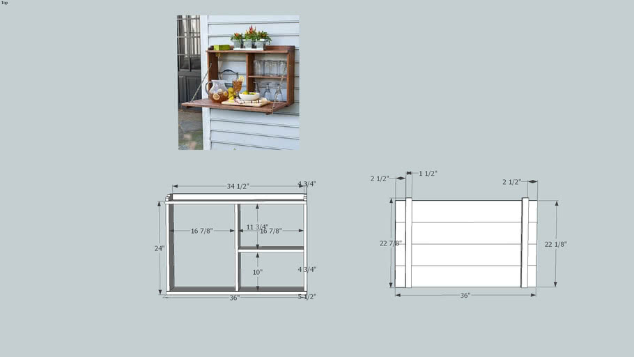 Fold down table / sideboard / cabinet plans
