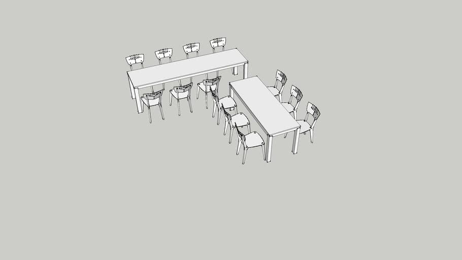 Meja makan + Kursi