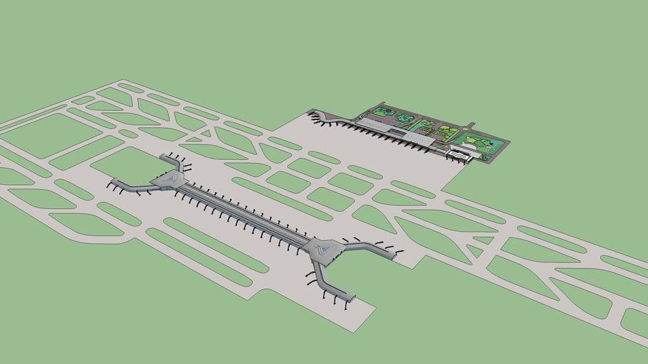银川河东国际机场四期工程示意Fourth Building of YInchuan Hedong International Airport