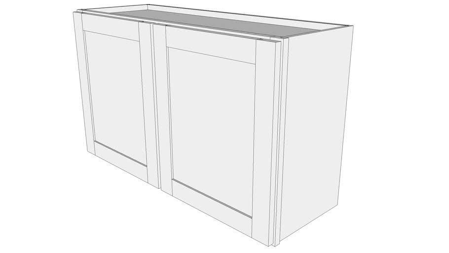 "Bayside Wall Cabinet W3621 - 12"" Deep, Two Doors"