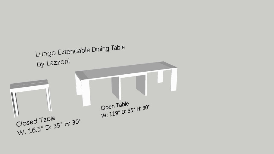 Lazzoni Lungo Extendable Dining Table
