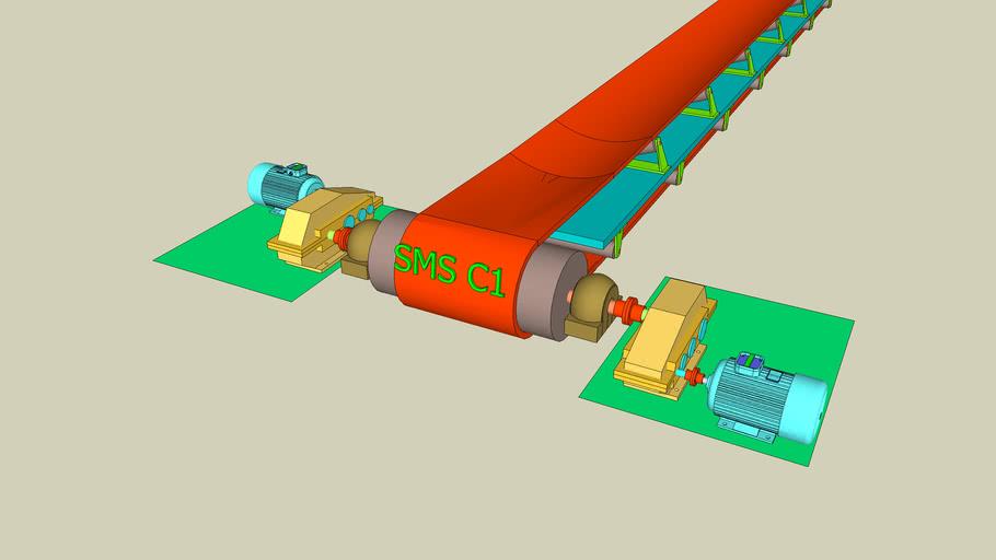 Dual drive system for Conveyor belt