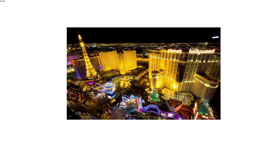 Achtergronddoek Las Vegas skyline