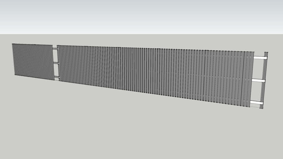 2 metre high picket fence