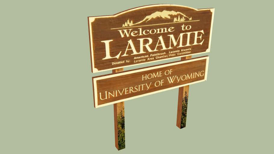 Welcome Sign Laramie, Wyoming