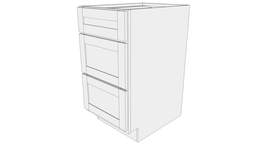 Base Cabinet B18 Three Drawer