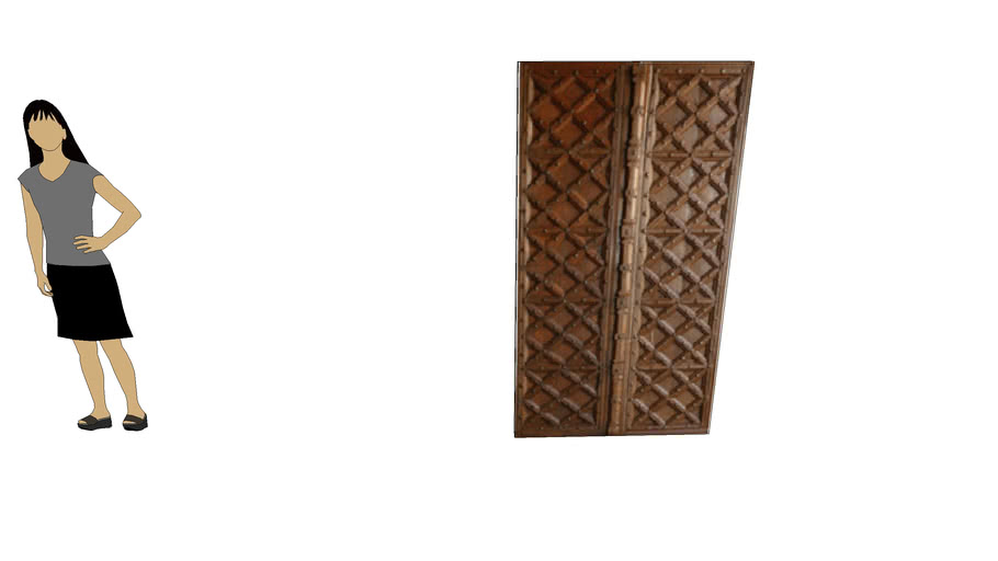 TRADITIONAL GUJRATI DOOR SHUTTAR by Dala Decor